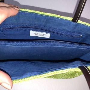 Bags - Green Wheat Straw Mini Beach Bag Boho Purse